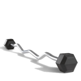 Rubber EZ barbell set