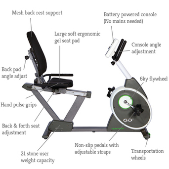 Tunturi GO 30 Recumbent Exercise Bike 2